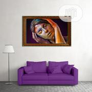 HD Framed Closed Eyes Woman Wall Painting Picture Design | Arts & Crafts for sale in Lagos State, Ajah