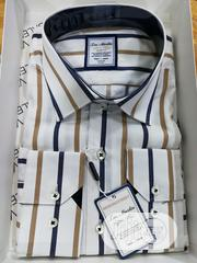 Brown&White Classic Stripes Shirts By TM Martin | Clothing for sale in Lagos State, Lagos Island