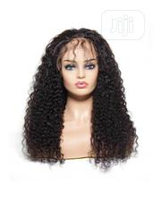 Cute Long Curly Human Hair Wig With Frontal | Hair Beauty for sale in Lagos State, Ikeja