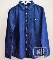 Navy Blue Button Down Shirt for Boys Ages 11/12 | Clothing for sale in Rivers State, Bonny