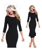 Cute Black Long Sleeve Gown | Clothing for sale in Lagos State, Ikeja