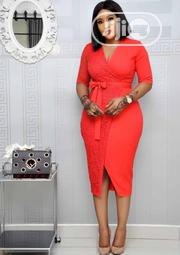 Red Fitted Female Gown   Clothing for sale in Lagos State, Ajah