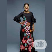 Maxi Dress With Pretty Ankara Flower Patches | Clothing for sale in Lagos State, Ikeja