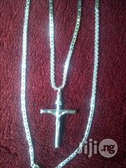 Pure ITALY 92 Original Silver Necklace With Crucifix | Jewelry for sale in Lagos State, Lagos Island