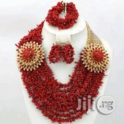 Red Coral Beads Necklace Earrings Bracelet Jewelry Set 2 | Jewelry for sale in Plateau State, Jos