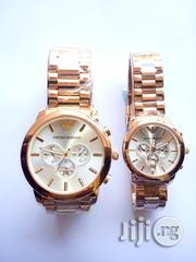 Brand New Emporio Armani Couple's Watch - Gold | Watches for sale in Lagos State, Ikeja