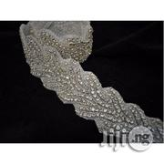 Tailornimi Rhinestone Applique -wra 341 -Sold Per Yard -Silver | Clothing Accessories for sale in Lagos State