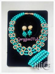 Teal Blue Pearl Bead Set | Jewelry for sale in Lagos State, Isolo